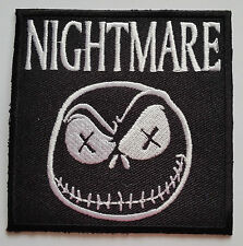 NOVELTY GOTHIC HORROR CARTOON SEW ON / IRON ON PATCH:- NIGHTMARE WHITE JACK