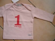 "(X53) Imps & Elfs Baby Shirt mit Druck ""1 one of the family imps & elfs"" gr.68"