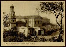 cartolina ROMA basilica di s.paolo fuori le mura