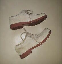 Boys Youth Sz 3 UGG 3292 Light Beige Suede Oxford Fleece Lined Tie Shoes