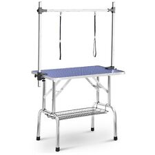 "BTM 44"" Folding Dog Pet Grooming Bath Table Adjustable Height Arm Non Slip Top"