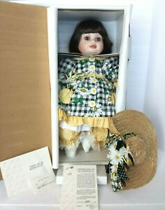 COA #6389 NEW IN BOX MARIE OSMOND OLIVE MAY SPRINGTIME PORCELAIN DOLL