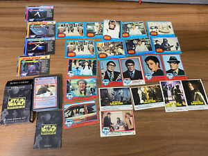 Vintage Star Wars Trading Cards Topps Blue Series superman galactica job lot mix