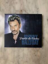 """JOHNNY HALLYDAY """"PARTIE DE CARTES"""" CD SINGLE EDITION LIMITEE DELUXE NEUF"""