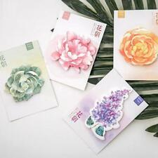 Flower +Leaf Remove message Sticky Post It Notes Memo pad Bookmarker