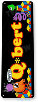 Q-bert Arcade Sign, Classic Arcade Game Marquee, Game Room Tin Sign A840
