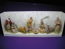 NATIVITY EURO-MARCHI CHRISTMAS NATIVITY SET 8 ADORABLE FIGURES MADE IN ITALY NIB