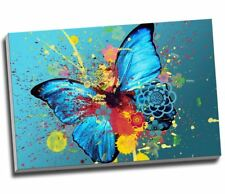 Abstract Butterfly Canvas  Canvas Print Large A1 30x20""