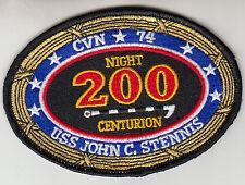 CARRIER AIR WING 9 / USS JOHN C. STENNIS 200 NIGHT CENTURION PATCH