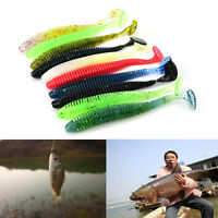10x Lures Soft Baits Worms Fishing Lure Fishing Takcle Grub Artificials Lure*v*