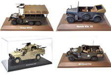 LOT DE 4 VEHICULES MILITAIRES ATLAS 1/43 SECONDE GUERRE MONDIALE WW2- TANK CHAR
