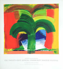 In Tangier, 1987-90 by Howard Hodgkin Limited Edition Serigraph Art Print 37x34