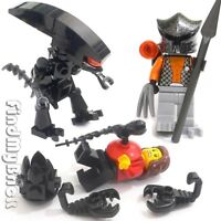 Lego Custom Alien vs Predator Human Minifigures Egg Huggers & Chestburster NEW