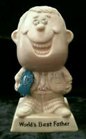 """VINTAGE 1970 R&W BERRIES CO  """"WORLD'S BEST FATHER"""" Figurine"""