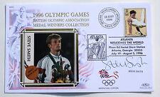 OLYMPIC GAMES ATLANTA 1996 BENHAM COVER ATHLETICS SIGNED BY STEVE SMITH