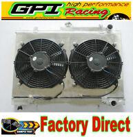 52MM Aluminum Radiator +shroud+fan for Nissan Skyline R33 R34 GTR GTST RB25DET