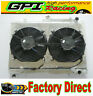 42MM Aluminum Radiator &shroud&fan for Nissan Skyline R33 R34 GTR GTST RB25DET