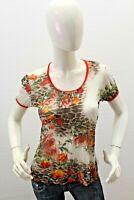 Maglia ROBERTO CAVALLI Donna T-Shirt Maglietta Woman Taglia Size 46