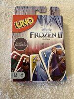 UNO Disney Frozen II Limited Edition Family Card Game Anna Elsa Olaf Mattel New