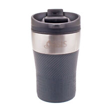 Oasis Stainless Steel Double Wall Eco Cup Coffee Tea Reusable Thermal Grey