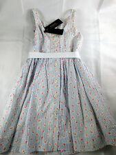 Polo Ralph Lauren Girls Summer Dress Size 6 Seersucker Blue White & Pink NWT
