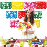 9pcs Wedding Flag Banner Mexican Banner Garland Party Papel Picado Birthday Deco