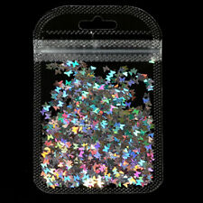 Holography Glitter Butterfly Nail Art 3D Micro Laser Polished Sequins Decoration