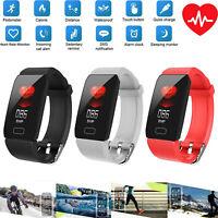 Q1 HD Smart Watch Orologio intelligente frequenza cardiaca Fitness Tracker Nero