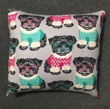 """Beautiful Handmade Fleece Puppy Dog Accent - Throw Pillow 10"""" x 9"""""""