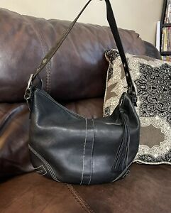Coach Soho Black Leather Hobo Bag 8A03 Women's Shoulder Bag