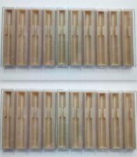 Lot of 20 Pen box lot plastic pen case Parker empty boxes cream color Free Ship