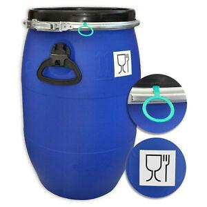 60 Liter Deckelfass * lebensmittelecht UN-X/S und FDA Lebensmittelzulassung
