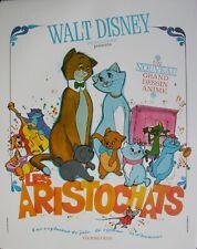 LES ARISTOCHATS Affiche Cinéma ROULEE 53x40 Movie Poster Walt Disney Retirage