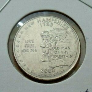 USA coin 2000 - 25 cents  - Old man of the mountain - New Hampshire