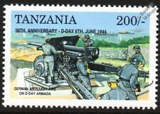 D-Day German Artillery Fire on Landing Ships / Warship Armada WWII Stamp