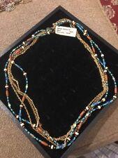 """Premier Designs """"Sedona"""" Blue/Brown Toned 24"""" Necklace $49 (DC)"""