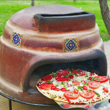 Outdoor Pizza Oven Wood Fired Burning Brick Terracotta Clay Counter Top Table
