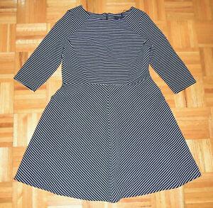 M&S Collection Marks & Spencer Dress Skater Fit & Flare Striped Size 16 UK 12 US
