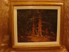 Tableau de Ludovic Janssen Soleil en sous bois, Sart les Spa 1933