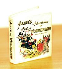 Miniature 5-piece Alice in Wonderland Set - Book, Rabbit Clock, Three Cameos