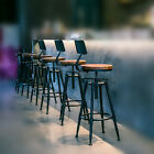 VINTAGE RETRO RUSTIC INDUSTRIAL METAL BREAKFAST BAR STOOL KITCHEN COUNTER CHAIR
