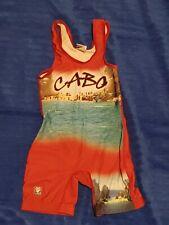 Red Cabo Wrestling singlets - Sunflower Wrestling Youth medium