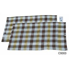 Westfalia Rear Window Curtain for VW T2 Bay in White & Yellow Check C9303