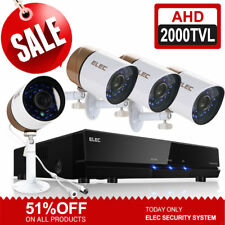 ELEC 8CH DVR AHD 2000TVL 720p 4pcs Cameras IR-CUT Security Camera System No HDD