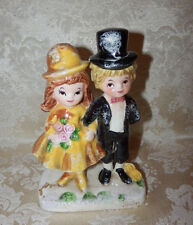 Vintage Little Girl & Boy Figurine # E-6117 Couple Wedding ALL DRESSED UP