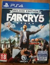 Far Cry 5 Deluxe Edition (PlayStation 4, 2018) - Complete With DLC, Map & CD