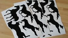 12 HORSE STICKERS vinyl ANY COLOUR car WINDOW wall WHEELIE BIN laptop STABLE