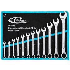 Jeu de 12 clés mixtes fourche anneau 6-22mm clé plate et polygonales bleu