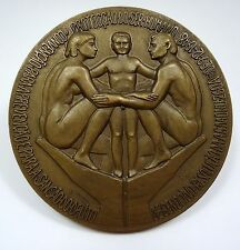 BRONZE MEDAL / O.N.U. HUMAN RIGHTS / NUDE / ONU HUMAN PROTECTION 1948