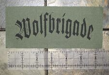 WOLFBRIGADE - Crust Punk Patch D-beat Inepsy Warvictims Extinction of Mankind
